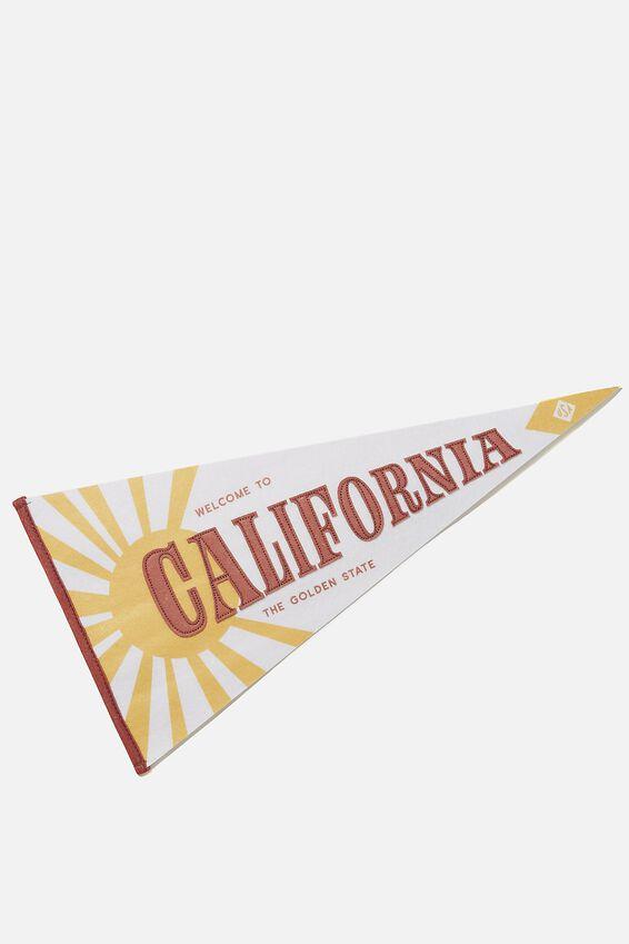 Pennant Wall Flag, CALIFORNIA