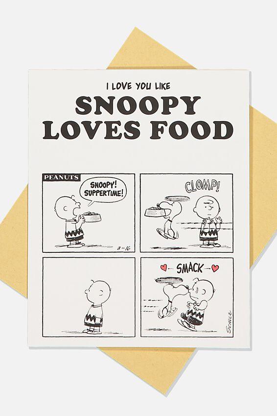 Snoopy Love Card, LCN PEA SNOOPY LOVES FOOD