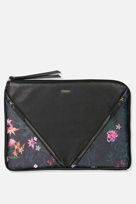 Premium Laptop Case 15 Inch, JUNGLE FLORAL