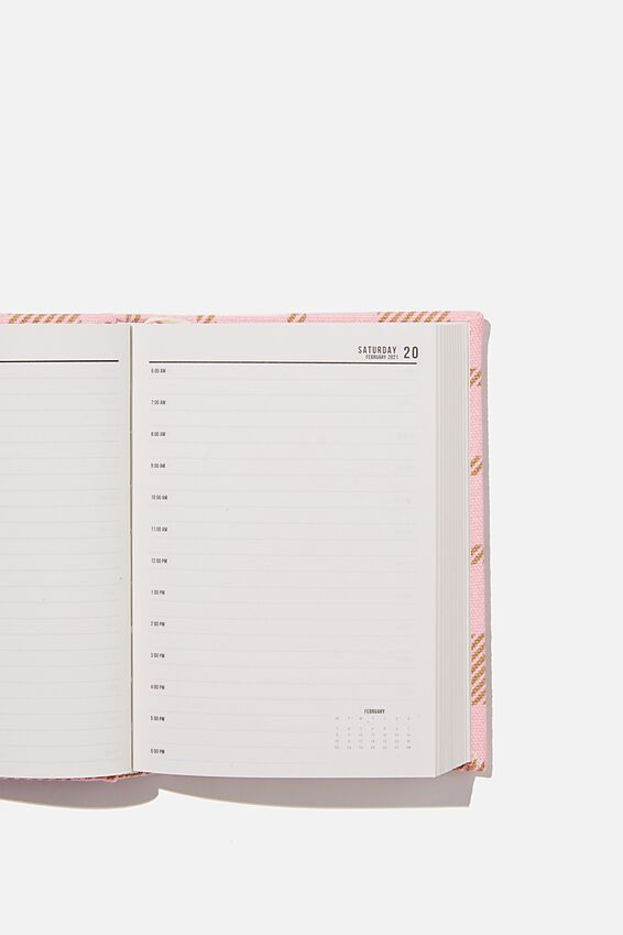 2021 A6 Oxford Daily Diary, ECRU OVERSIZED POLKA