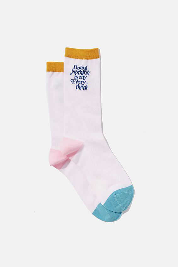 Socks, DOING NOTHING