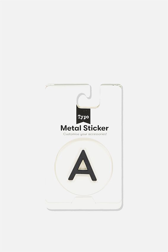 Metal Stickers, BLACK A