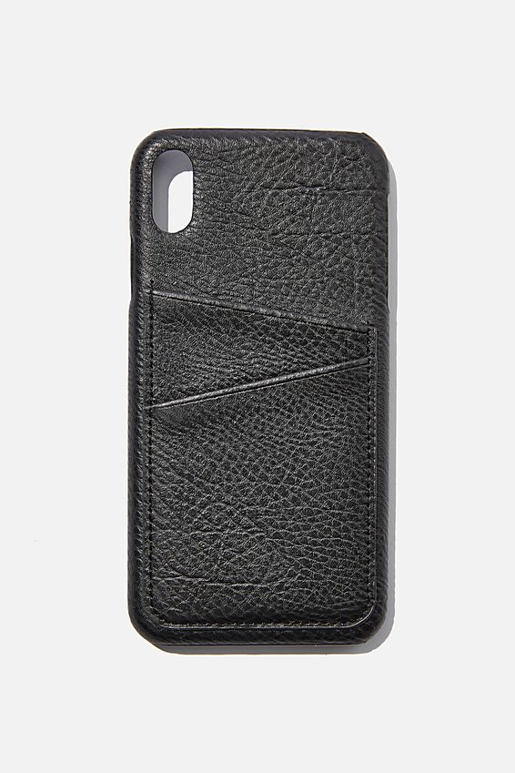 Cardholder Phone Case Iphone Xs Max, BLACK PEBBLE