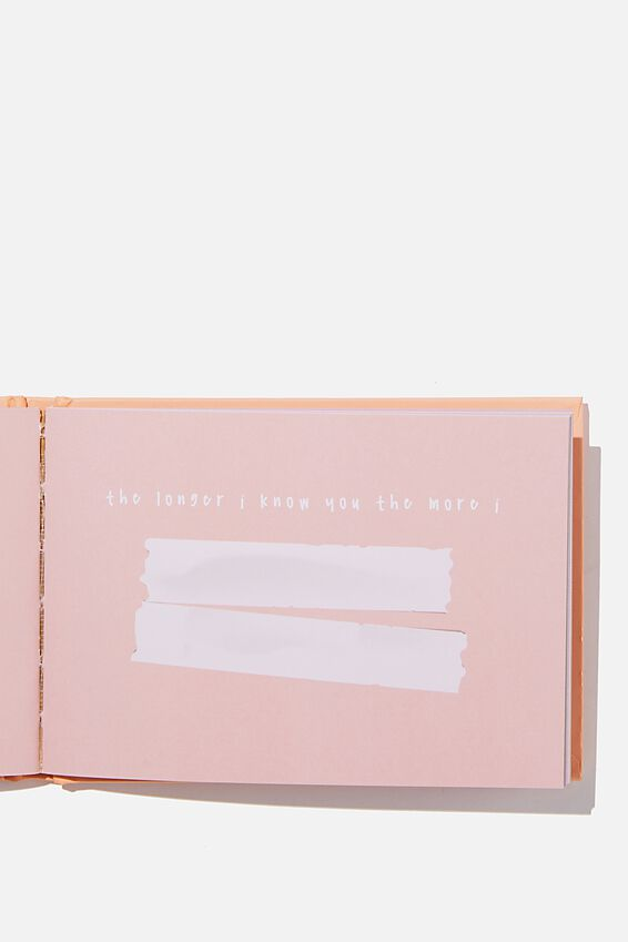 Mini Activity Journal, PINK YOU GIVE ME ALL THE FEELS