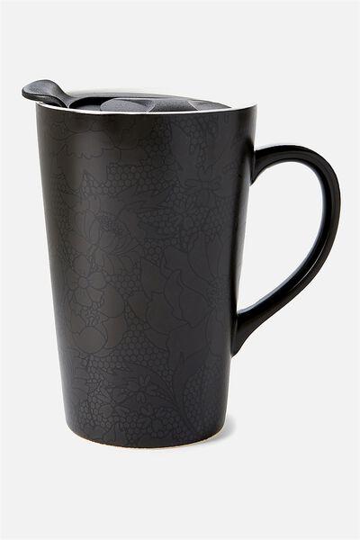 Nomad Travel Mug, BLACK LACE