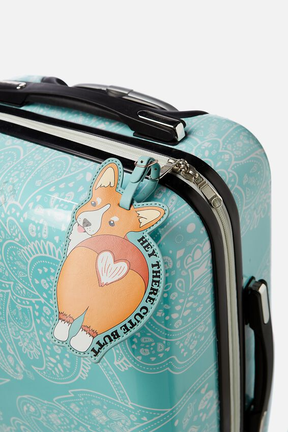 Shape Shifter Luggage Tag, CORGIE BUTT