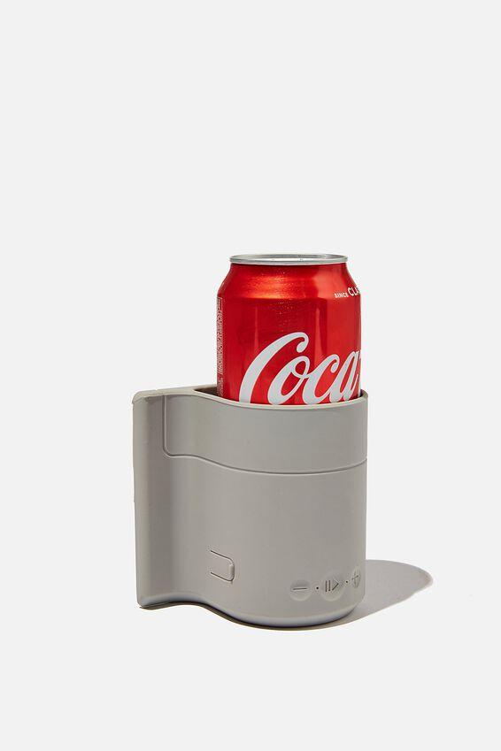 Beer Holder Shower Speaker, COOL GREY