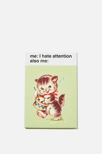 Quirky Magnets, CAT ATTENTION