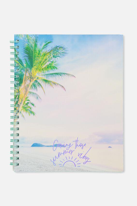 A4 Campus Notebook, SUMMER VIBES BEACH
