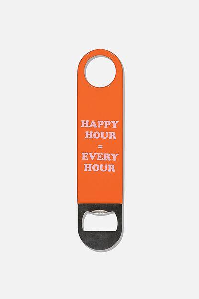 Bar Blade Bottle Opener, RED HAPPY HOUR