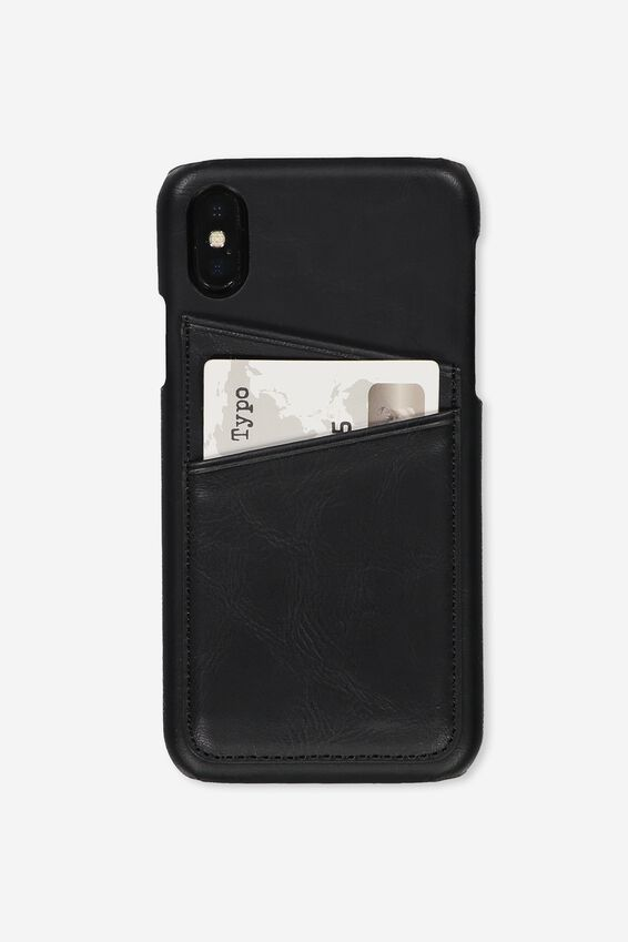 Cardholder Phone Case Iphone X,Xs, BLACK