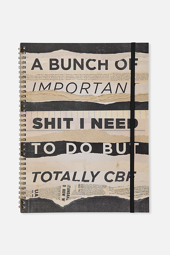 A4 Spinout Notebook - 120 Pages, A BUNCH OF IMPORTANT SHIT!