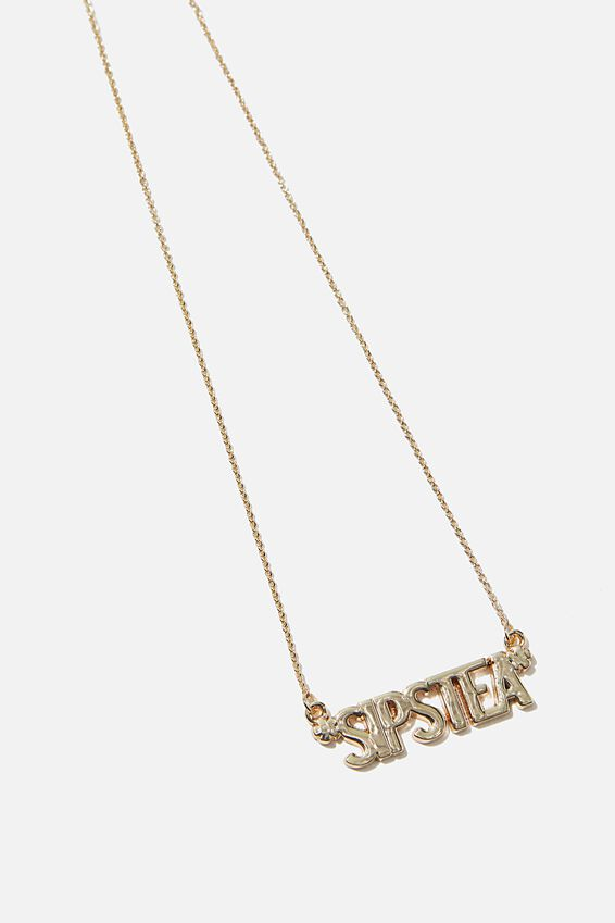 Novelty Necklace, SIPS TEA