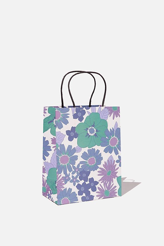 Get Stuffed Gift Bag - Small, BLUE STEVIE FLORAL