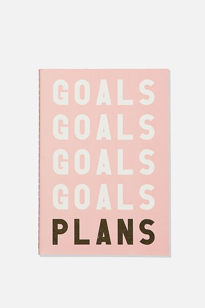 The Small Undated Monthly Diary, CAMEO PINK GOALS