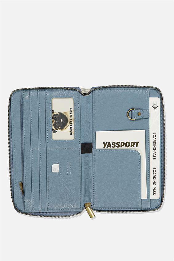 Rfid Odyssey Travel Compendium Wallet, LIGHT GREY NEUTRAL STRIPES