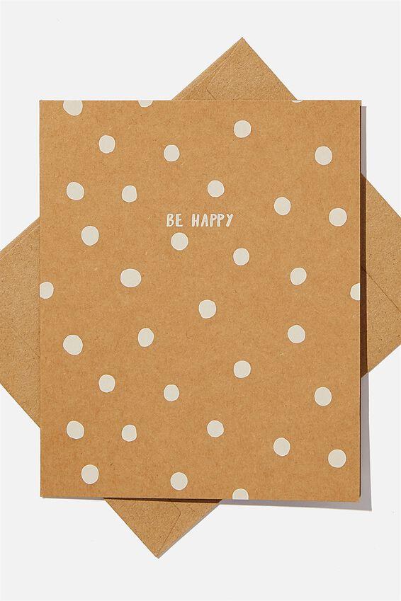 Blank Card, BE HAPPY KRAFT SPOT