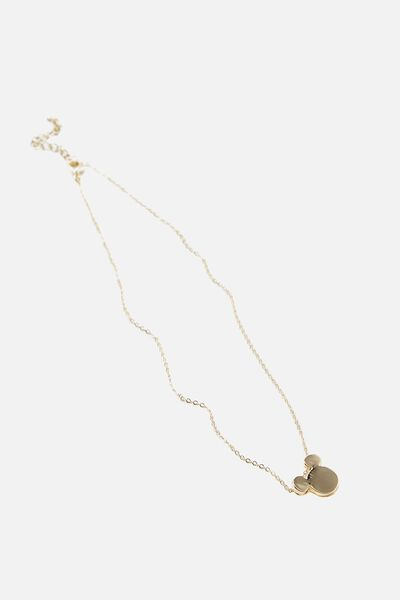 Novelty Necklace, LCN GOLD MICKEY HEAD