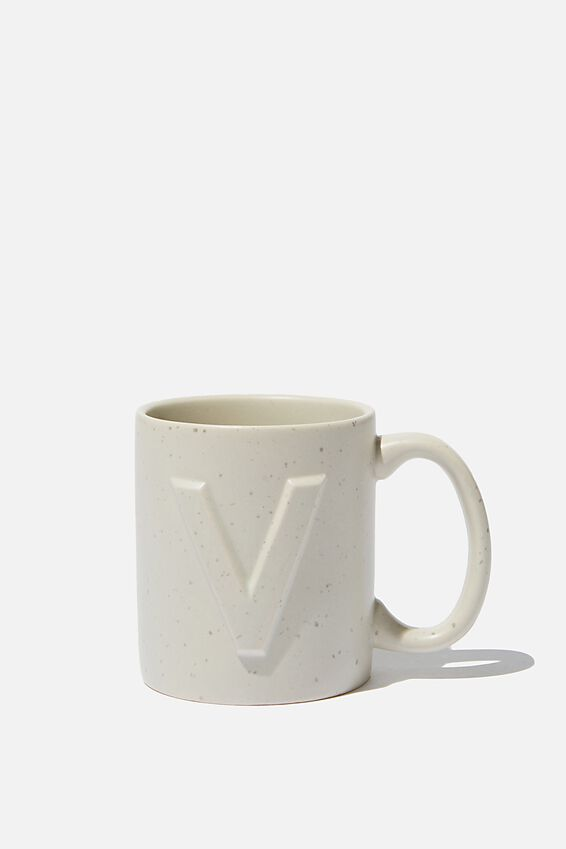Alphabet Anytime Mug, SPECKLED V