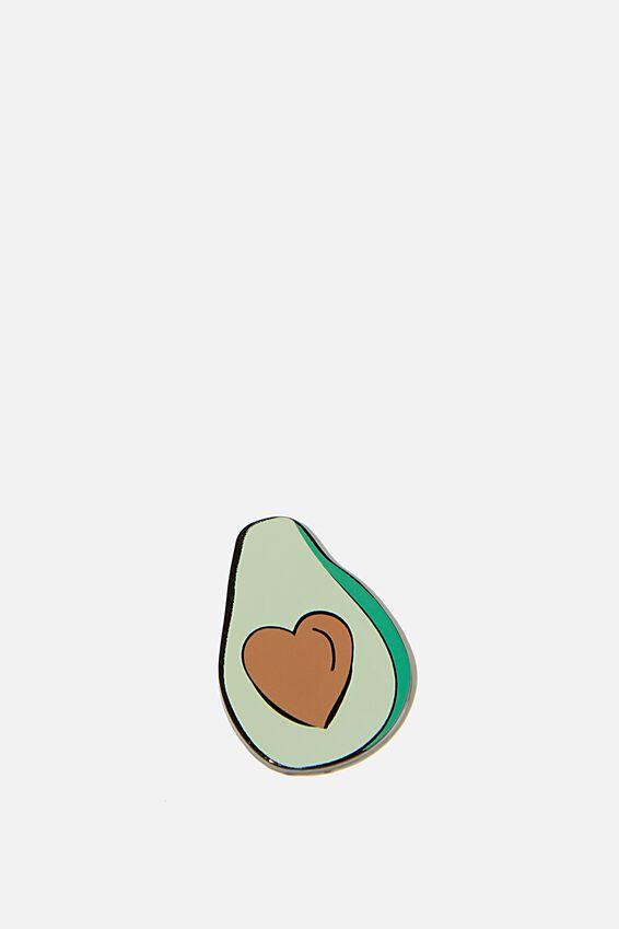 Enamel Stickers, HEART AVOCADO