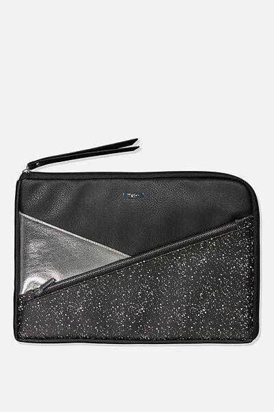 Premium Laptop Case 13 inch, BLACK SPLATTER SPLICE