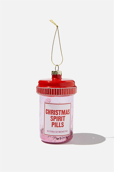 Glass Christmas Ornament, CHRISTMAS SPIRIT PILLS