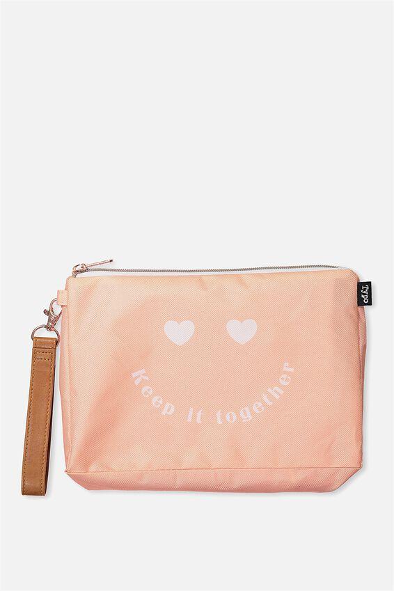 3 Pc Travel Organiser Bags, CORAL HEART