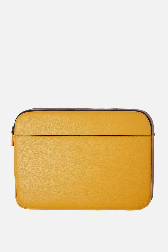 Core Laptop Cover 15 Inch, MUSTARD