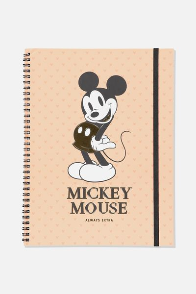 A4 Spinout Notebook - 120 Pages, LCN DIS MICKEY MOUSE