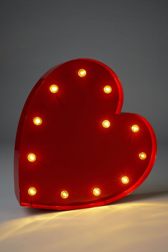 Large Marquee Light, RED HEART