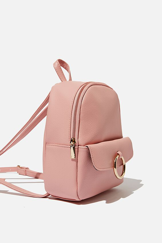 Mini Cairo Backpack, DUSTY PINK W/ RING