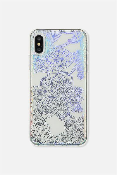 Transparent Phone Cover X, IRIDESCENT LACE