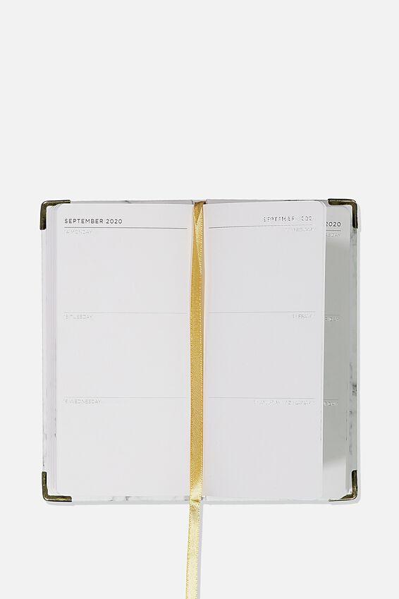 2020 Slim Jim Diary, WHITE MARBLE