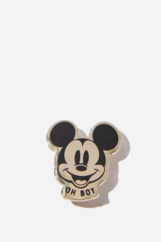 Disney Enamel Badge, LCN DIS MICKEY HAPPY