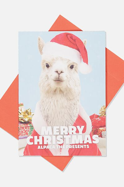 Christmas Card 2019, ALPACA THE PRESENTS