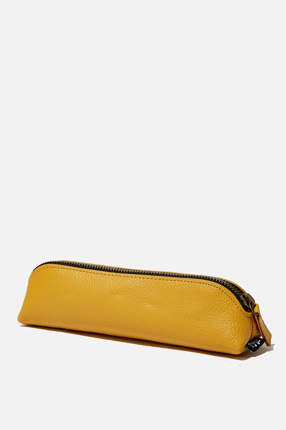 Buffalo Barrel Pencil Case, MUSTARD