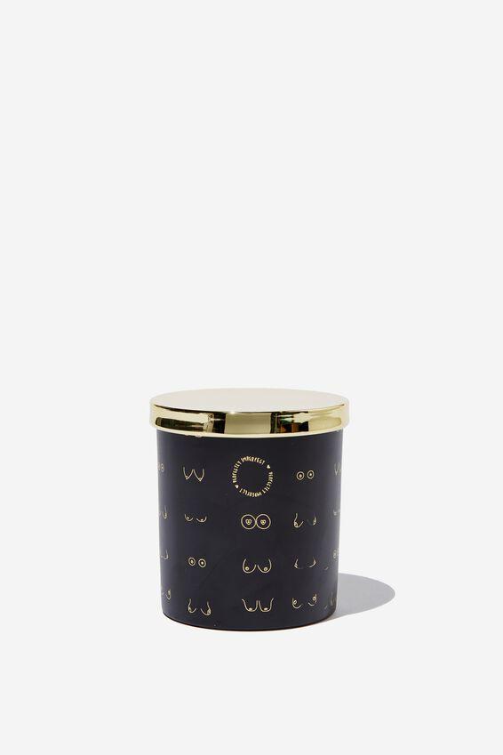 Amber and Oak Premium Candle, BOOBS