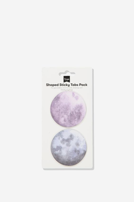 2Pk Shaped Sticky Notes, MOONS