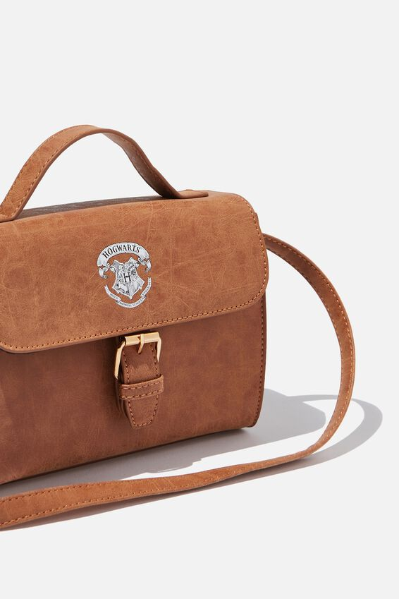 Harry Potter Mini Nuevo Satchel Bag, LCN WB MID TAN HARRY POTTER EMBLEM