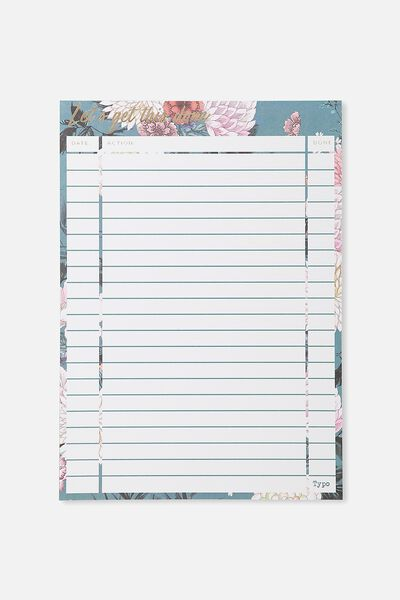 A4 Plan Ahead Planner, GREEN FLORAL