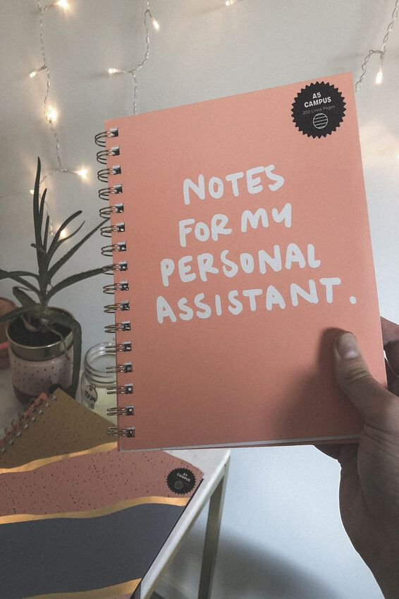 A5 Campus Notebook Recycled, PERSONAL ASSISTANT