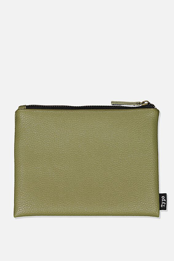 Pu Campus Pencil Case, KHAKI