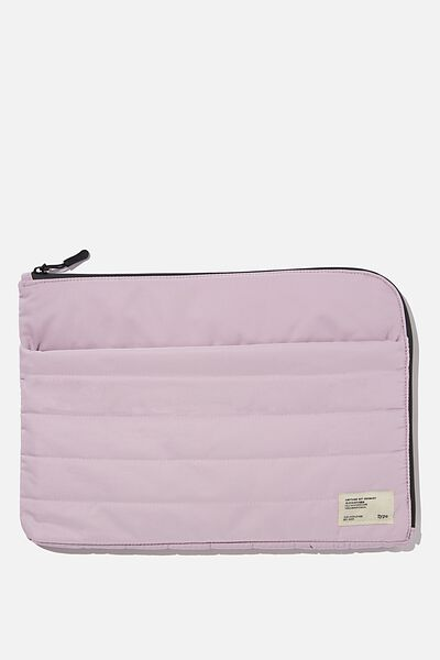 Utility Recycled 13 Inch Laptop Case, HEATHER & DEEP GREEN