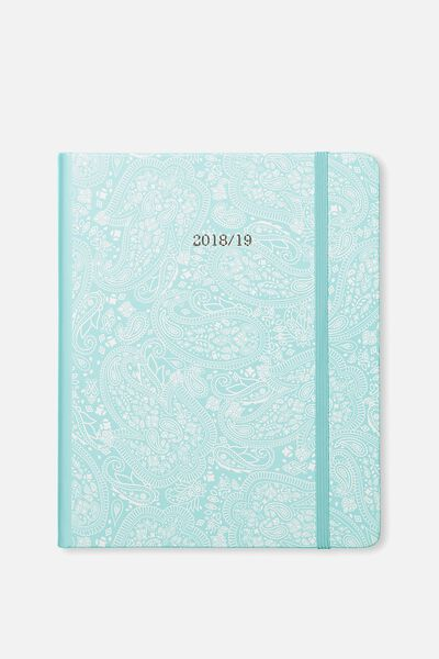 2018 19 18 Month Diary, BLUE LACE