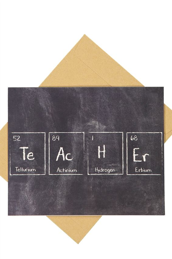 Teacher card teacher card teacher periodic table urtaz Choice Image