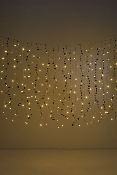 Premium Cascading Lighting, PARTY GOLD SEQUIN