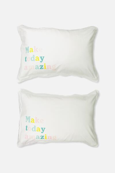 Standard Pillow Case Set, MAKE TODAY AMAZING