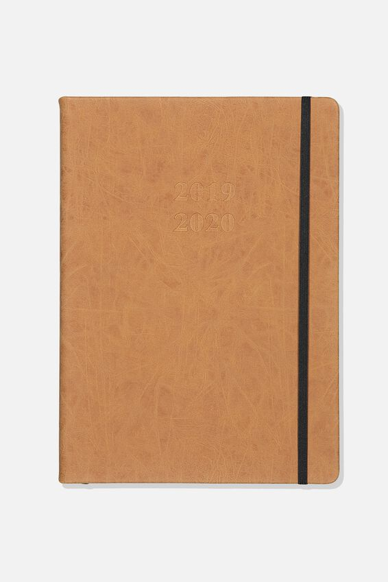 2019 20 A4 Daily Buffalo Diary, TAN
