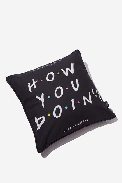 Square Cushy Cushion, LCN WB FRIENDS JOEY QUOTE