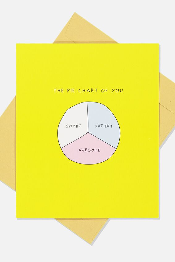 Blank Card, PIE CHART OF YOU